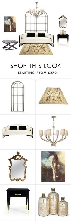 """""""Luxury Living Room"""" by giulianimei ❤ liked on Polyvore featuring interior, interiors, interior design, home, home decor, interior decorating, Visual Comfort, Canvas Home, Kate Spade and Home Decorators Collection"""