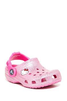 Hello Kitty Glitter Clog (Toddler & Little Kid) by Crocs on @nordstrom_rack