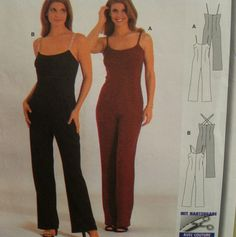 2f7afe6fb711 Strappy Womens Jumpsuit Pattern Evening Wear Fitted by VogueVixens