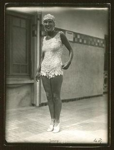 Suzy Solidor en maillot Jenny, Deauville, 9 août 1928