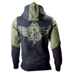 The Legend of Zelda Green-Black Crest Official Hoodie