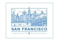 Dropbox Offices – San Francisco / by Ryan Putnam Icon Design, Print Design, Graphic Design, San Francisco, Mexico Logo, Building Silhouette, Building Icon, Skyline Silhouette, Skyline Art