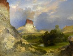 Thomas Moran (1837-1926) is a well-known painter of landscapes in the  American West. As a member of the Hayden Geological Survey of 1871, his  paintings of ...