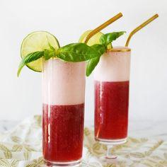 Boysenberry basil limeaid
