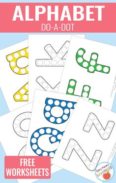 ABC do-a-dot printables are perfect for your little ones learning the alphabet, working on their fine motor skills or just for fun. Free Alphabet Printables, Dot To Dot Printables, Alphabet Crafts, Alphabet Worksheets, Preschool Printables, Abc Printable, Handwriting Worksheets, Handwriting Practice, Preschool Letters