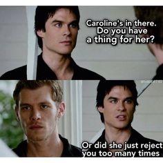 Damon patronizing Klaus
