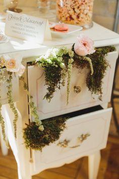 moss wedding details - photo by Mango Studios http://ruffledblog.com/garden-inspired-bridal-shower #weddingideas #bridalshower
