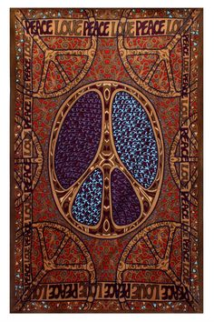 Here's a really beautiful tapestry, the Sunshine Joy 60's Love Peace Sign Tapestry - 60x90 Inches - Hippie Dorm Decor - Beach Sheet - Hanging Wall Art - 3D Reactive Artwork