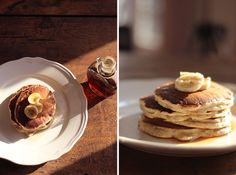 Pancakes à la Banane // #recette #vegan @ Absofruitly ! {testé aujourd'hui même pour l'anniversaire de mon chéri, ils sont tout simplement à tomber part terre ! 1 vrai délice, absolument tout ce qu'on attend de bons pancakes =}