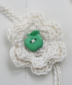 Detail of Apple Flower Headband