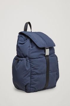 COS image 3 of Padded backpack in Blue Cos Bags, Baggage, Clothes Horse, Contemporary Fashion, Backpack Bags, Backpacks, Handbags, Wallet, Fashion Brand