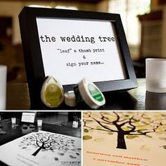 "Kerri Gilpin-Jason Percy Wedding: Wedding Thumbprint Tree ""Guest Book"""