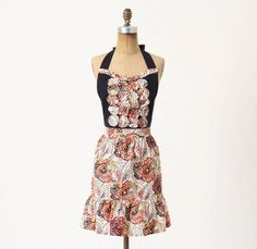 Love Anthropologie aprons. Might start wearing them out.