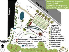 Urban Permaculture Design Cincinnati- Community Church Garden- A retrofit
