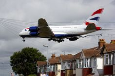 BA's first A380 arriving at Heathrow. Looks like Myrtle Avenue. #avgeek #britishairways #heathrowairport ©Ian Wylie