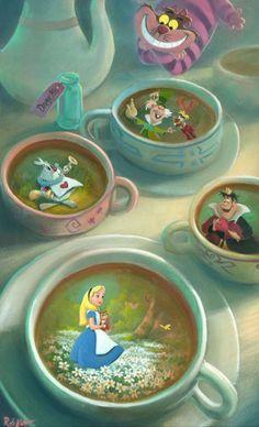 Alice in Wonderland Disney Fine Art