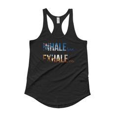 Inhale Exhale Ladies' Shirttail Tank