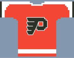 Philadelphia Flyers : Front of Mini Hockey Jersey Cross Stitch PATTERN (Instant Download)
