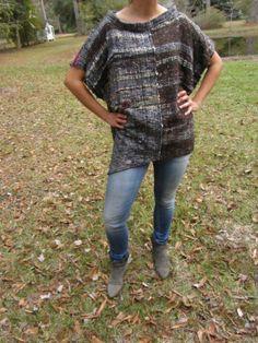 Silk Shirt  Sewn from Handwoven Cloth  Silk & by TextileTicketyBoo, $350.00