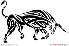 Tribal bull tattoo