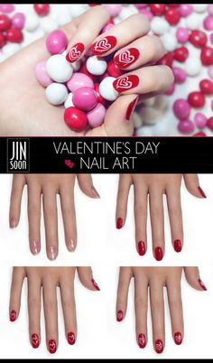 Step 1: Apply JINsoon Power Coat (Base Coat) Step 2: Apply two coats of JINsoon Coquette Step 3: Using a thin brush, draw the bigger heart with JINsoon Dolly Pink Step 4: Using a thin brush, draw the smaller heart inside of the first one with JINsoon Dolly Pink Step 5: Apply JINsoon Top Gloss (Top Coat) to seal the look and you are done! #JINsoon #Sephora #nailspotting