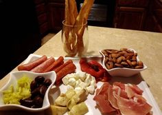 Super easy antipasto platter Recipe -  Are you ready to cook? Let's try to make Super easy antipasto platter in your home! Antipasto Recipes, Antipasto Platter, Easy Appetizer Recipes, Appetizers For Party, Party Platters, Tasty, Yummy Food, Roasted Almonds, Best Dishes