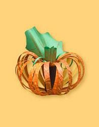 Pumpkins are a colorful, traditional fall symbol. Kids create this beautiful seasonal decoration for a Halloween party or to grace your Thanksgiving table. Pumpkin Crafts, Paper Pumpkin, Easy Fall Crafts, Holiday Crafts, Halloween Projects, Fun Projects, Classroom Projects, Classroom Ideas, Art For Kids