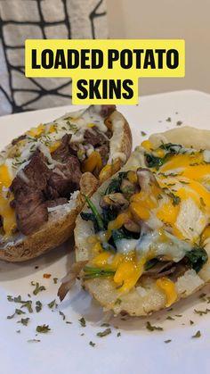 Steak And Baked Potato, Baked Potato Recipes, Keto Crockpot Recipes, Wine Recipes, Healthy Recipes, Crisco Recipes, Loaded Baked Potatoes, Healthy Foods, Camping Meal Planning