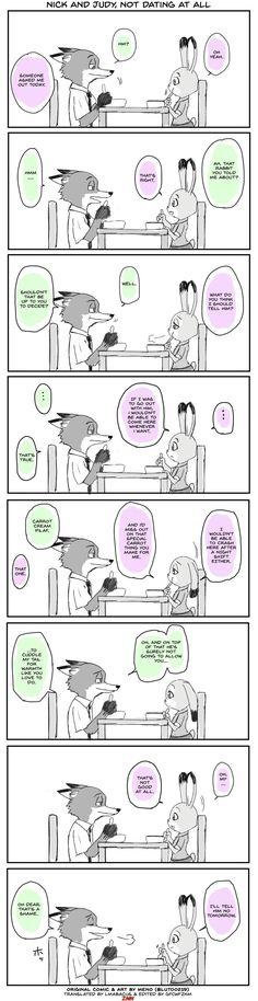 Zootopia Comic Nick and Judy