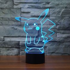 Pokemon Pikachu LED Night Light, Elstey Optical Illusion Visual Lamp 7 Colors Touch Table Desk Lamp ** You can find more details by visiting the image link. (This is an affiliate link) 3d Pokemon, Pokemon Room, Pokemon Gifts, Pokemon Table, Pokemon Store, Pokemon Party, Lampe 3d, 3d Optical Illusions, Cute Pikachu