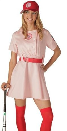 A League of Their Own Rockford Peach Costume Dress.  This will be happening in the next few Halloweens.
