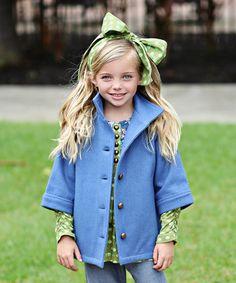 Loving this Royal Blue Valentina Wool-Blend Jacket - Toddler & Girls on #zulily! #zulilyfinds