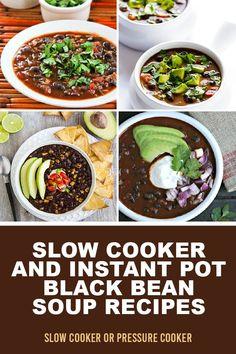 Slow Cooker Black Beans, Slow Cooker Soup, Slow Cooker Recipes, Best Soup Recipes, Chili Recipes, Healthy Recipes, Clean Eating Salads, Black Bean Soup, Salad Recipes For Dinner