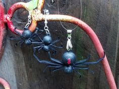 Paper Quilled Halloween Spider Jewelry  by SweetheartsandCrafts
