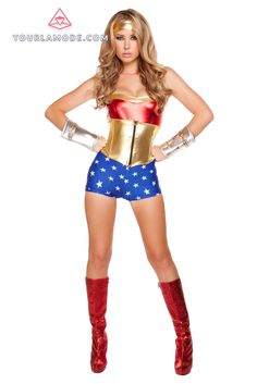 3pc Lusty American Superheroine Costume