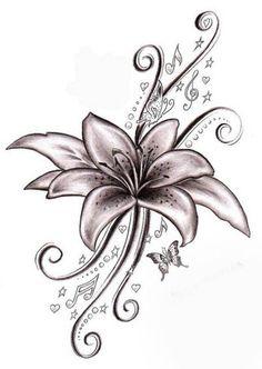 Эскизы тату лилия | ТриТатушки