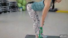 3 упражнения на ягодицы. Тренировка с резиновой лентой, лента, ноги, стоя