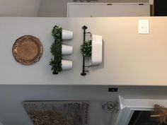 "Amazon.com: Ikea 22"" Rail +10 Hooks + 3 Cutlery Caddy Pot + 3 Artificial Plants Kitchen Herb Deco Fintorp: Home & Kitchen"