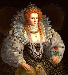 Elizabethan Gown with Pinking Queen Elizabeth I