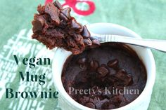 Preety's Kitchen: Vegan Mug Brownie /Eggless Single Serving Microwave Dessert