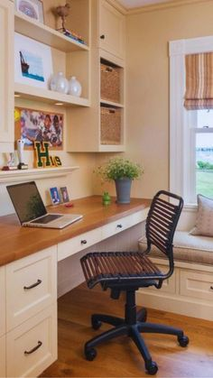 Small Home Offices, Home Office Space, Home Office Desks, Office Furniture, Home Office Cabinets, Office Room Ideas, Furniture Ideas, Small Office Decor, Office Ideas For Home