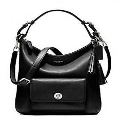 Coach ::  Legacy Leather Courtenay Hobo- Black