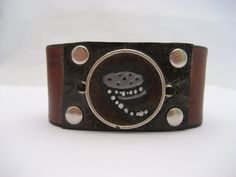 Film Roll Bracelet Hand Carved Leather Jewelry by Treeleafleather
