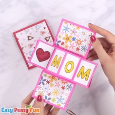 Lets take pop up cards to a new level we are going to show you how to make a twist and pop Mothers day card a super fun paper craft for kids. The post Twist and Pop Mothers Day Card Craft for Kids appeared first on diy. Mothers Day Crafts For Kids, Fathers Day Crafts, Paper Crafts For Kids, Mothers Day Cards, Diy Arts And Crafts, Fun Crafts, March Crafts, Spring Crafts, Holiday Crafts