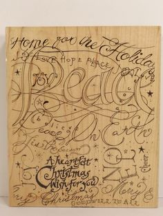Stampin Up Holiday Print Rubber Stamp Background Cards Crafts Scrapbook Christmas Invitations 5 x 6 inches 2003 - pinned by pin4etsy.com