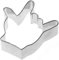 ASL Sign Language Hand cookie cutter I love you wedding Valentines Day. $2.95, via Etsy.
