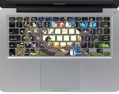 Children and Totoro---Mac Keyboard Decal Mac keyboard Sticker mac cover Decal Apple keyboard decal Vinyl Decal for Macbook Pro / Macbook Air