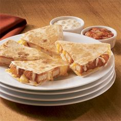 Cheesy Chicken Quesadillas