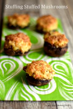 Stuffing Stuffed Mushrooms-an easy and delicious appetizer for your holiday entertaining! #TasteTheSeason #shop
