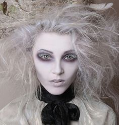 Looking for for ideas for your Halloween make-up? Browse around this website for scary Halloween makeup looks. Ghost Makeup, Makeup Art, Makeup Ideas, Sfx Makeup, Hair Makeup, Doll Makeup, Eyeshadow Makeup, Yellow Eyeshadow, Makeup Trends